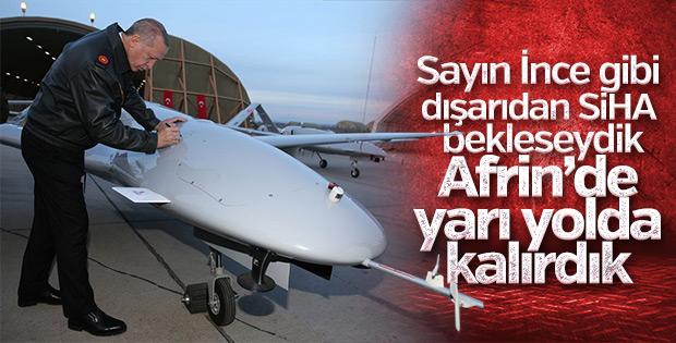 Erdoğan: Yerli silahlarla Afrin'de yarı yolda kalmadık
