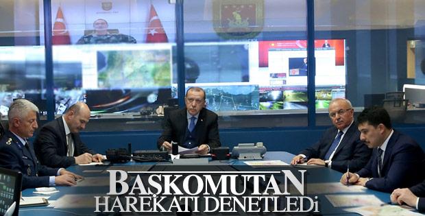 Cumhurbaşkanı Erdoğan askeri yetkililerden bilgi aldı