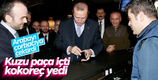 Cumhurbaşkanı Erdoğan, İstanbul'da çorbacıya gitti