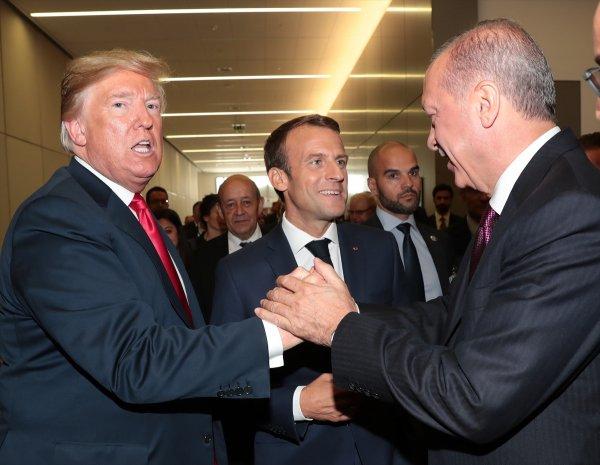 Erdoğan, Trump ve Macron'la görüştü