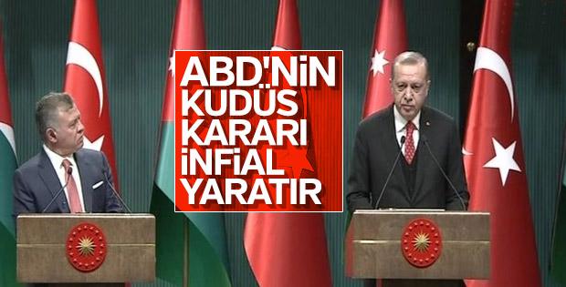 Cumhurbaşkanı Erdoğan-Ürdün Kralı basın toplantısı