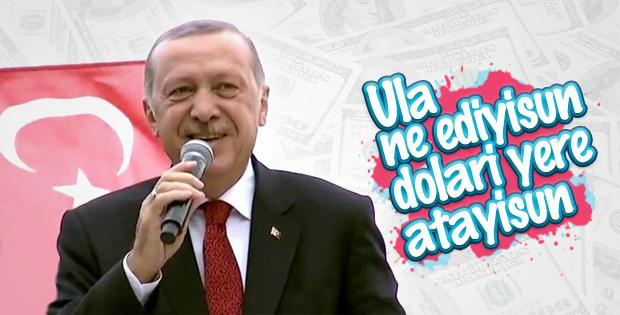 Başkan Erdoğan'ın Rize mitinginde neşeli anlar