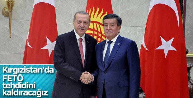 Başkan Erdoğan'dan Kırgızistan'da FETÖ mesajı