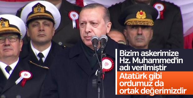 Erdoğan: Atatürk de ordumuz da ortak değerimizdir