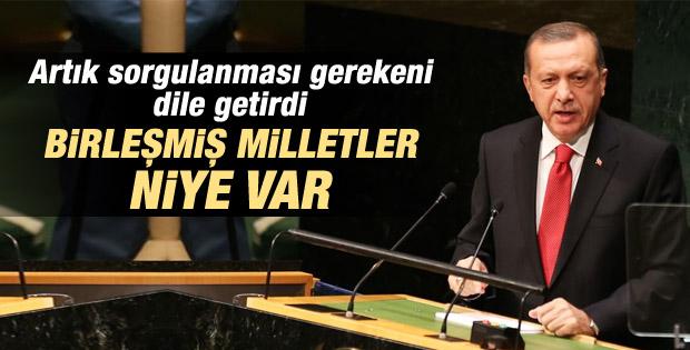 Cumhurbaşkanı Erdoğan'ın BM Genel Kurulu konuşması