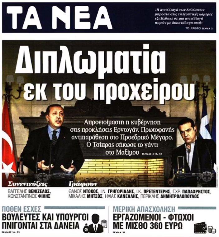 Erdogan's statement leaves its mark on Greek media