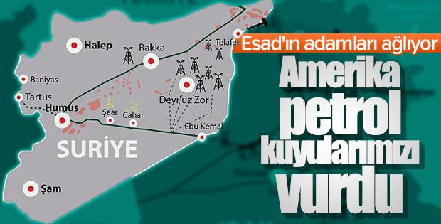 Amerika Suriye'nin petrol yataklarını vurdu