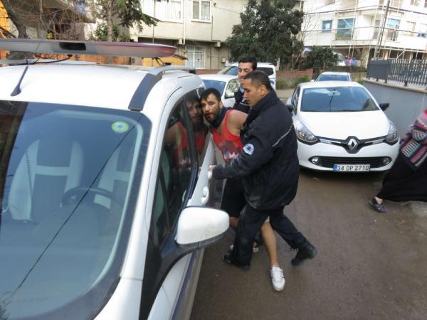 Maltepe'de polisten kaçan şüpheli ortalığı karıştırdı