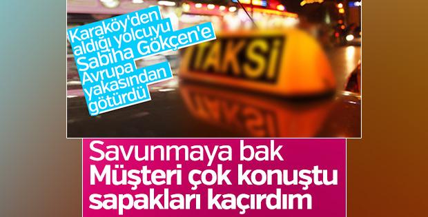 Turiste İstanbul'u dolaştıran taksici hakim karşısında