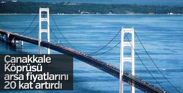 Çanakkale Köprüsü arsa fiyatlarını 20 kat artırdı
