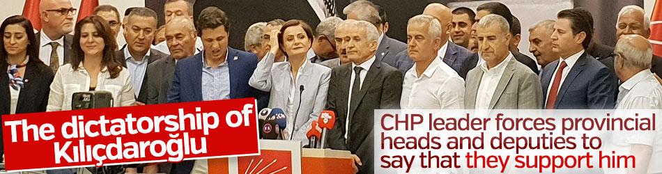 CHP provincial heads and deputies state they stand behind Kılıçdaroğlu
