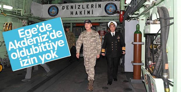 Genelkurmay Başkanı: Ege'de oldubittiye izin yok