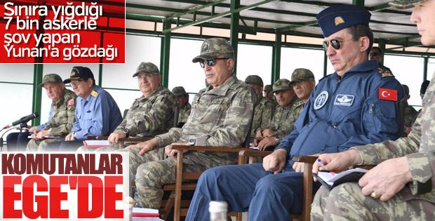 Orgeneral Hulusi Akar İzmir'de