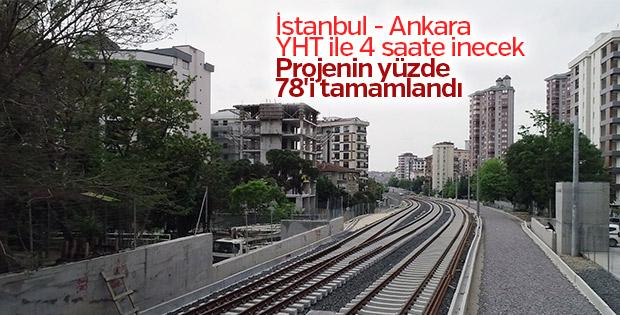 İstanbul- Ankara YHT projesinin yüzde 78'i tamamlandı