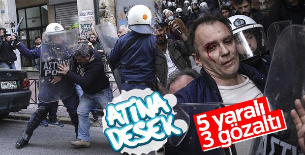 Yunanistan sokakları yine karıştı