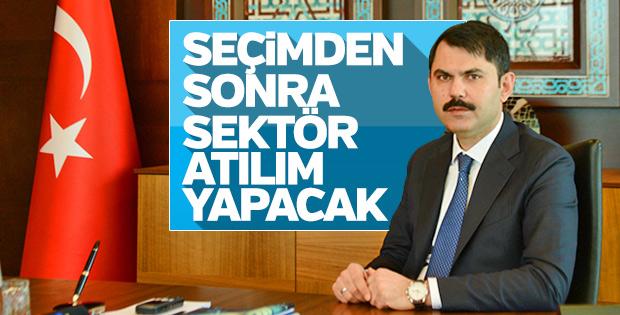 Murat Kurum: Konut sektörü ekonomiye katkı sağlamayı sürdürecek