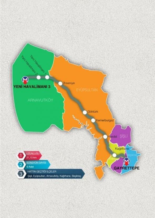 Gayrettepe- 3.Havalimanı Metro Hattı 2019'da açılacak