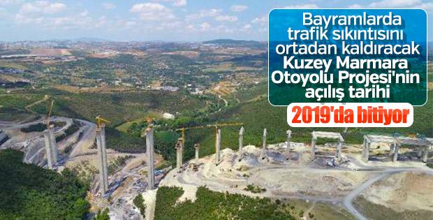 Kuzey Marmara Otoyolu 2019 yılı sonunda açılacak