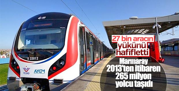 Marmaray'la bugüne kadar 265 milyon yolcu taşındı