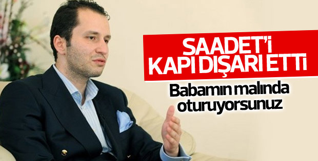 Fatih Erbakan Saadet Partisi'ne açtığı davayı kazandı
