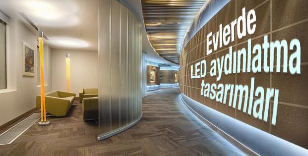 Evlerde LED aydınlatma tasarımları