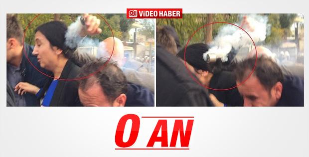 Figen Yüksekdağ'ın kafasına biber gazı isabet etti