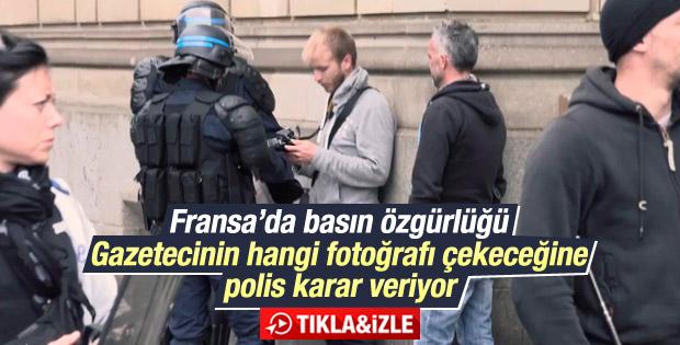 Fransız polisi gazetecilerin çektiği fotoğrafları sildirdi İZLE