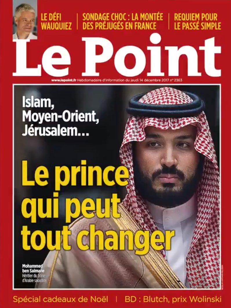 Veliaht Prens Selman Fransız dergisinin kapağında