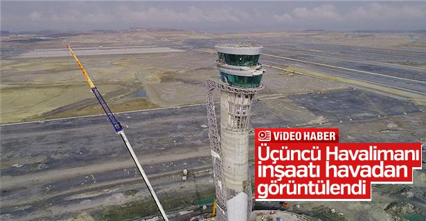 Üçüncü Havalimanı inşaatı havadan görüntülendi