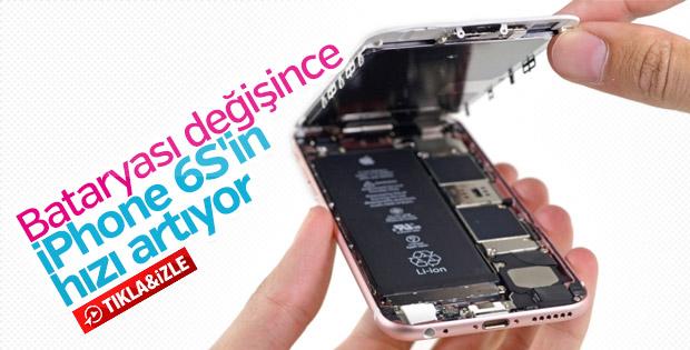Bataryası değiştirilen iPhone 6S'in hızı arttı