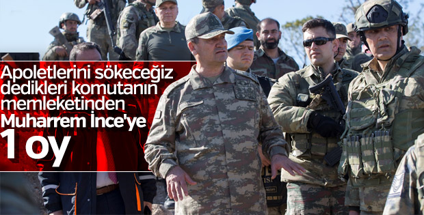 İsmail Metin Temel'in memleketinden CHP'ye 1 oy