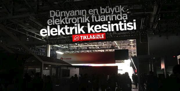Dünyanın en büyük elektronik fuarında elektrik kesintisi