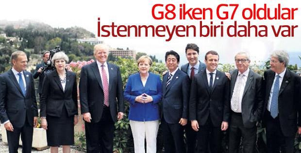 G7'nin 6 üye ülkesi, ABD'ye karşı birleşti