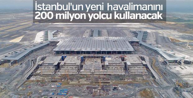 Üçüncü Havalimanı 200 milyon yolcuya hizmet verecek