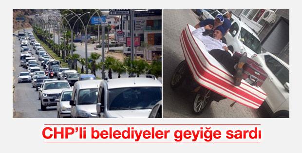 CHP'li Bodrum ve Kadıköy belediyeleri geyik yaptı