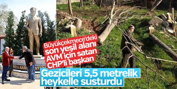 Albatros Parkı'nı satan CHP'li belediyenin heykel sevdası