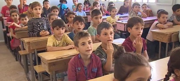 Syrian children go back to school in Afrin