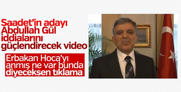 Abdullah Gül, Necmettin Erbakan'ı andı