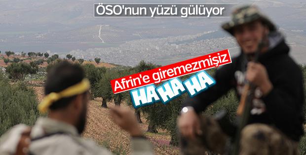 ÖSO'dan Afrin'e karşı hatıra fotoğrafı