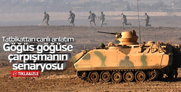 Habur'da son durum: Tanklar geri planda piyadeler sahada
