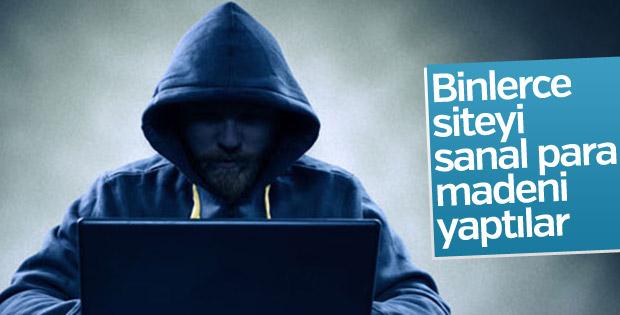 Hackerlar binlerce siteyi sanal para madeni yaptı