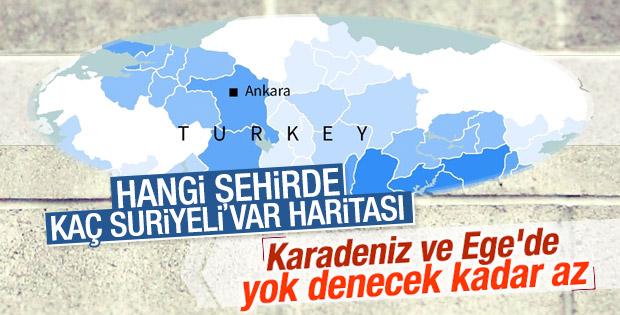Türkiye'deki mültecilerin dağılım haritası