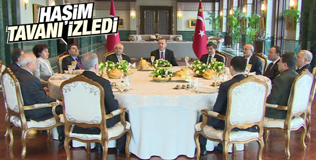 Erdoğan Cumhurbaşkanlığı Sarayı'nda öğle yemeği verdi