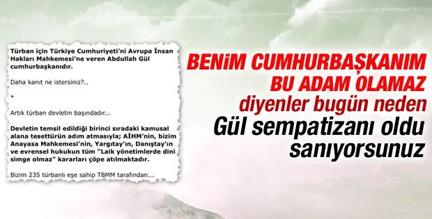 Haşmet Babaoğlu'ndan Gül'ü neden mi destekliyorlar yazısı