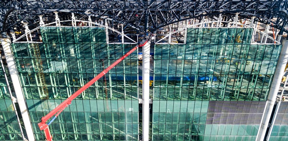 İstanbul Türkiye 3. havalimanı resimler görseller videolar