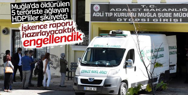 Muğla'da PKK'lı cenazesi alan HDP'liler rahatsız