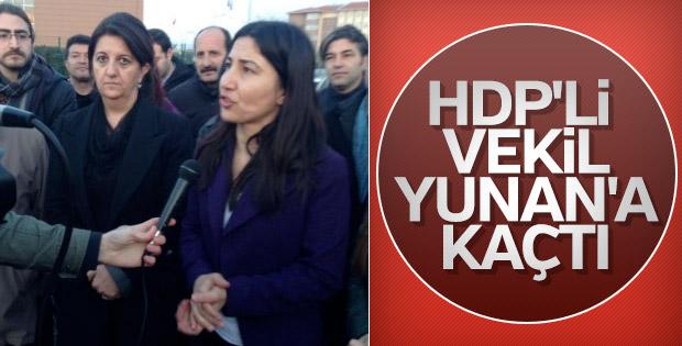 Eski HDP'li vekil Leyla Birlik Yunanistan'a kaçtı