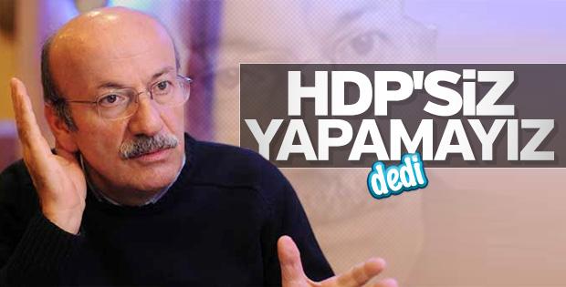 Mehmet Bekaroğlu HDP ile ittifak istedi