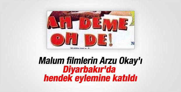 Arzu Okay Diyarbakır'da hendek eylemine katıldı