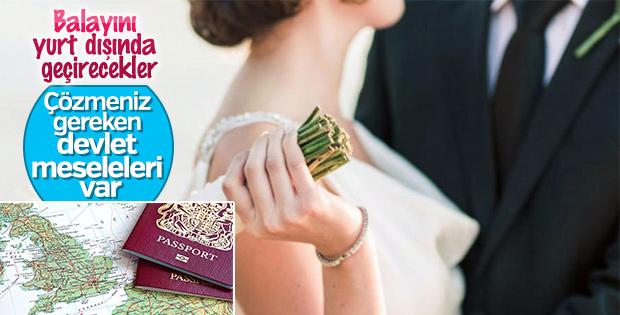 Evlendikten sonra yurt dışına seyahat